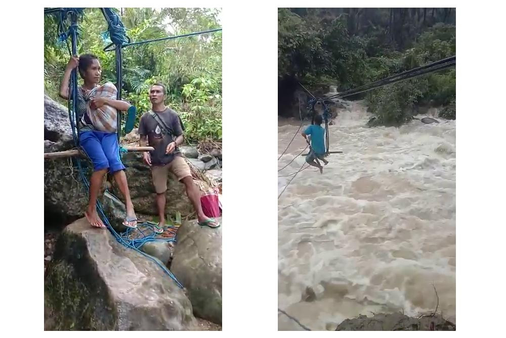 Present danger: Maluku villagers risk lives on makeshift river crossing