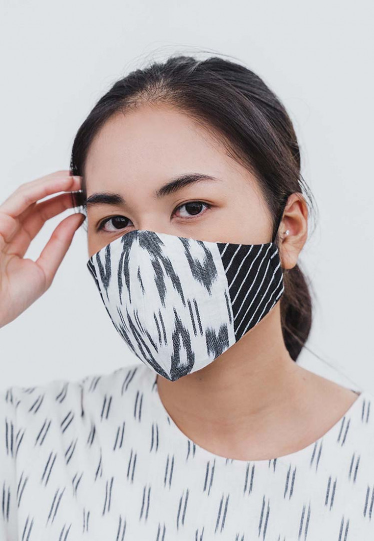 Mask is the new black: IKAT Indonesia's line of facemasks combines two traditional Indonesian textiles, 'ikat' and 'lurik'.