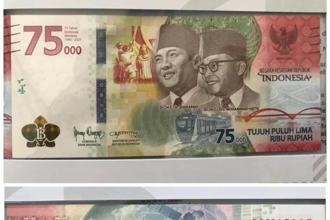 Commemorative Rp 75,000 bill in high demand as thousands place orders in one day