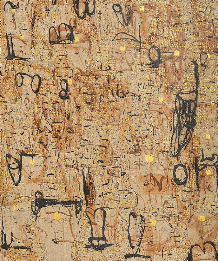 Lot 814 'Untitled' (2007) by Dadang Christanto. Mixed media on canvas_ 102 x 85 cm.