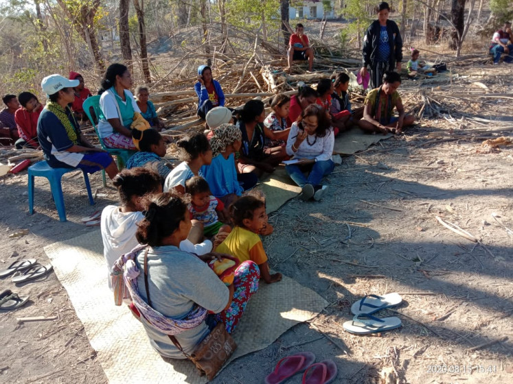 The Besipae community on Aug. 17 in Timor Tengah Selatan, East Nusa Tenggara.