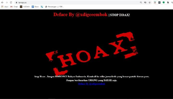 Tempo website hacked