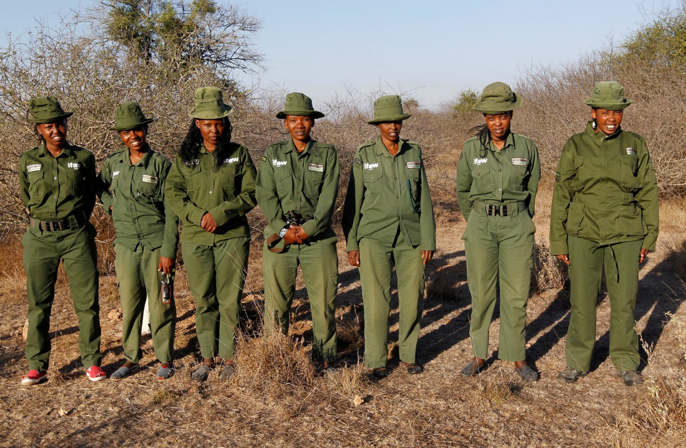 Kenyan all-female conservation ranger unit patrols amid COVID-19
