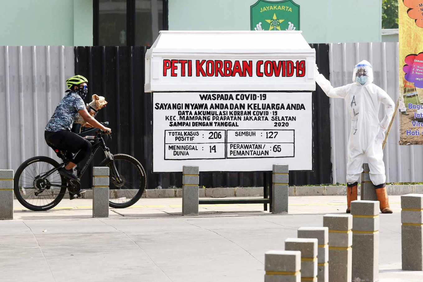 Jakarta sees record-high 1,114 new COVID-19 cases following long weekends