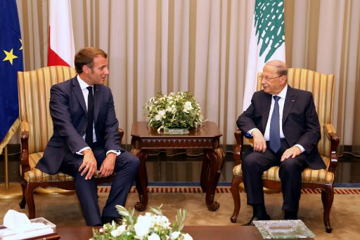 Macron in Lebanon calls for speedy government formation