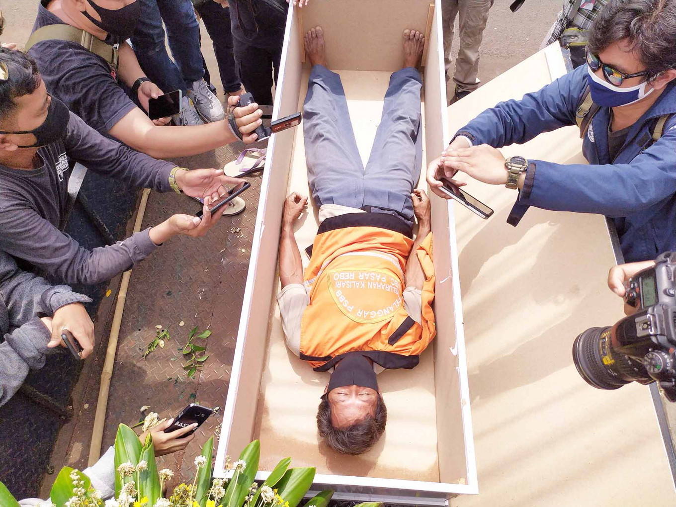Satpol PP to stop controversial fake coffin punishment