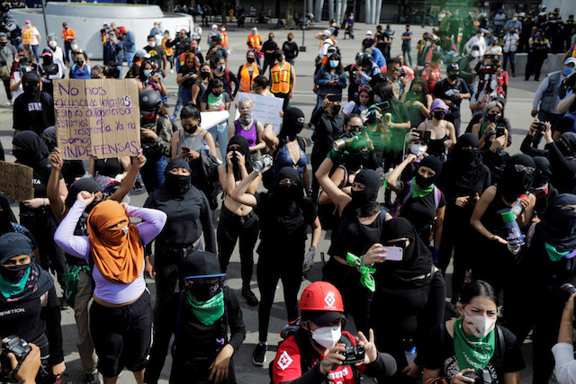 Demanding justice, feminist activists occupy offices in Mexico