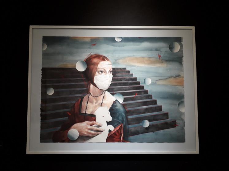 Agus Suwage's 'Droplet series - After Da Vinci'