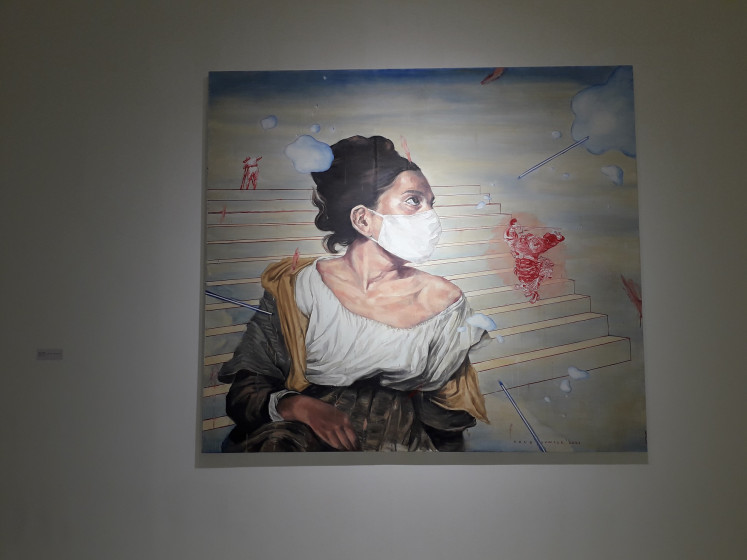 Agus Suwage's 'Droplet series - Tolak Bala - After DeLacroix'