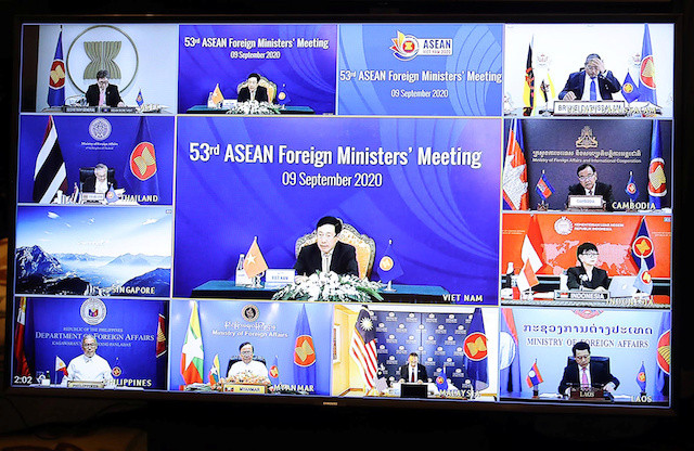 ASEAN calls for self-restraint in South China Sea dispute