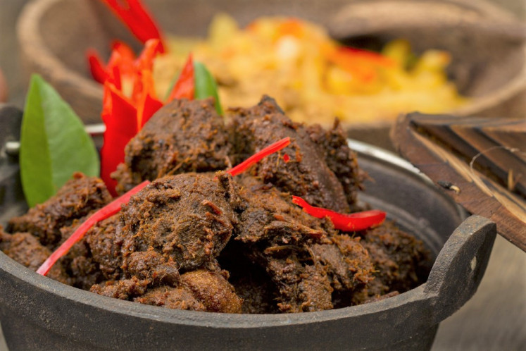 A taste of Nusantara: 'Rendang' (meat slow-cooked in coconut milk and spices) is a prime example of a renowned Indonesian dish.