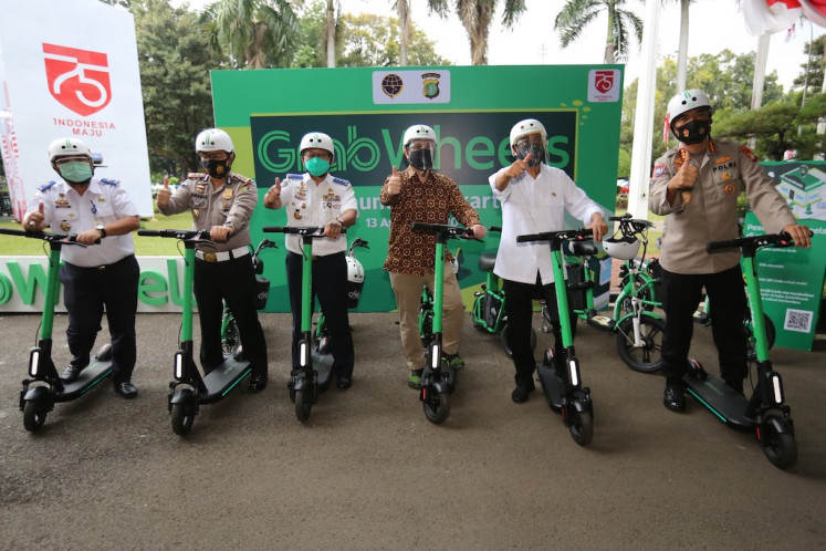 Eco-friendly solution: The newly relaunched GrabWheels utilizes eco-friendly electric scooters as an end-to-end transportation solution.