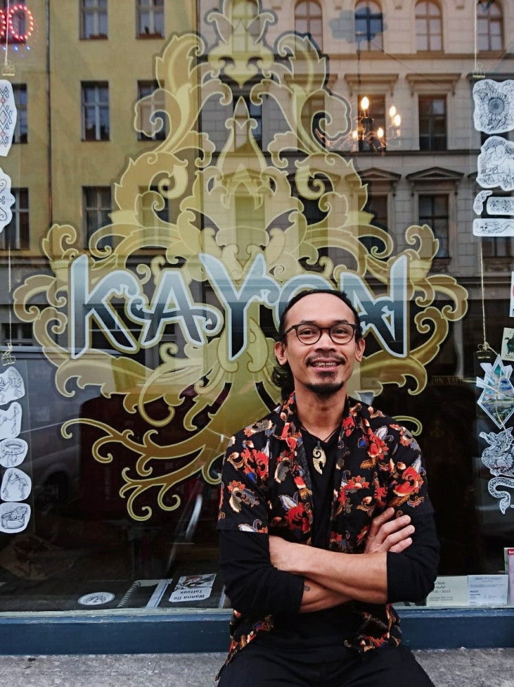 Around the world: Bhoman F. Jamhari moved from Bali to Berlin almost 15 years ago and opened his own tattoo studio in 2014.