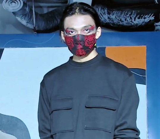 Mask is the new black: This season's must have accessory can be color-coded to one's outfit, as with Raegitazoro's version.