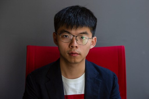 Joshua Wong leads young Hong Kong trio jailed for protests