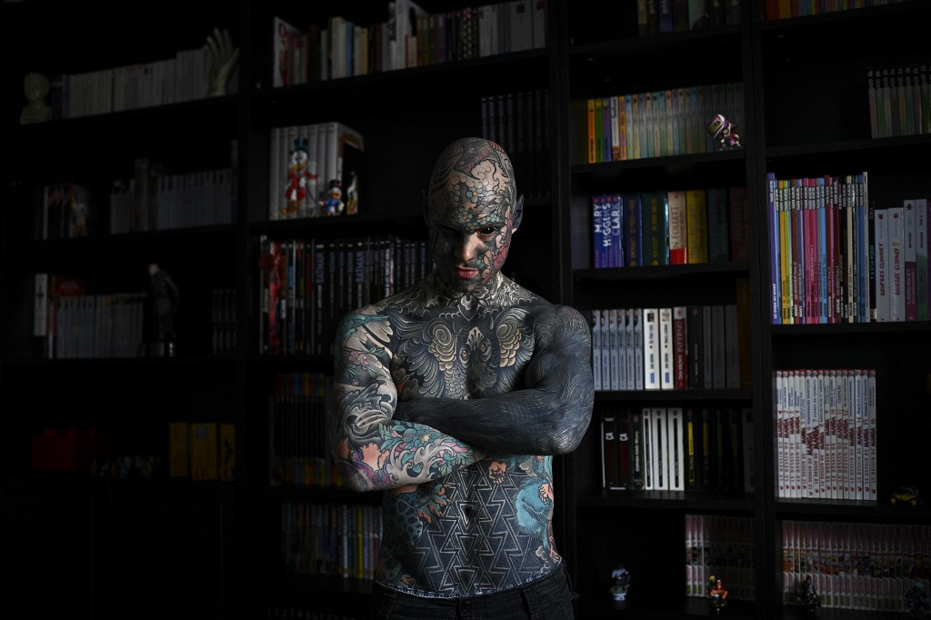 'Mr Snake': Meet the teacher who is France's most tattooed man