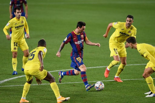 Messi Scores In First Game Since Transfer Dispute As Barca Thump Villarreal Sports The Jakarta Post