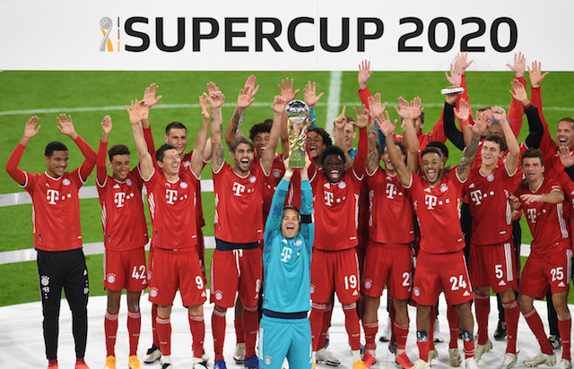 Bayern ride luck to win Super Cup and fifth title of year