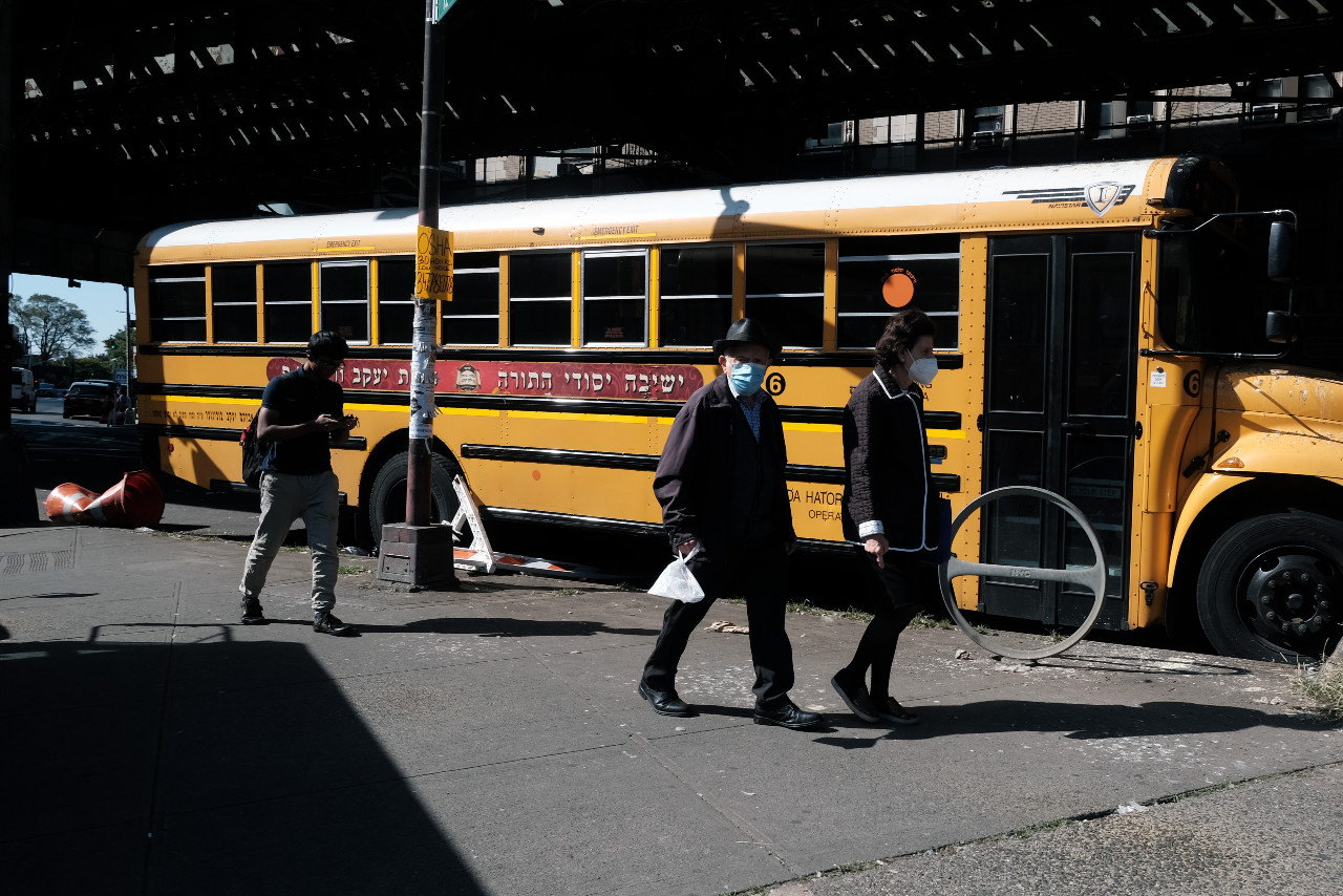New York closes schools in virus-hit areas over second wave fears