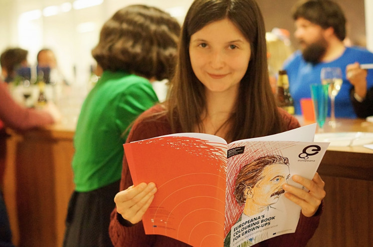 Digital curator: Aleksandra Strzelichowska poses with a Europeana coloring book