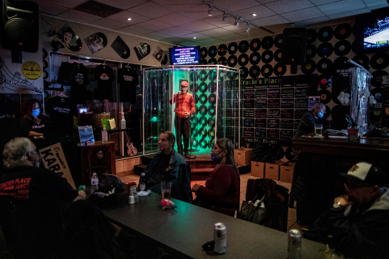 Canada karaoke bar lets customers sing in the shower during pandemic