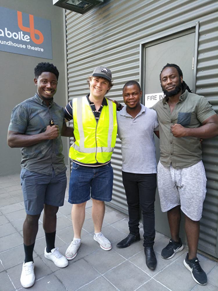Good friends: 'The Greatest Battle Lies Within' (2020) profiles Congolese playwright Future D. Fidel (second right) and his story of strife, migration and art as self-expression.