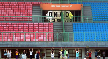 Bekasi stadium turned into COVID-19 isolation center