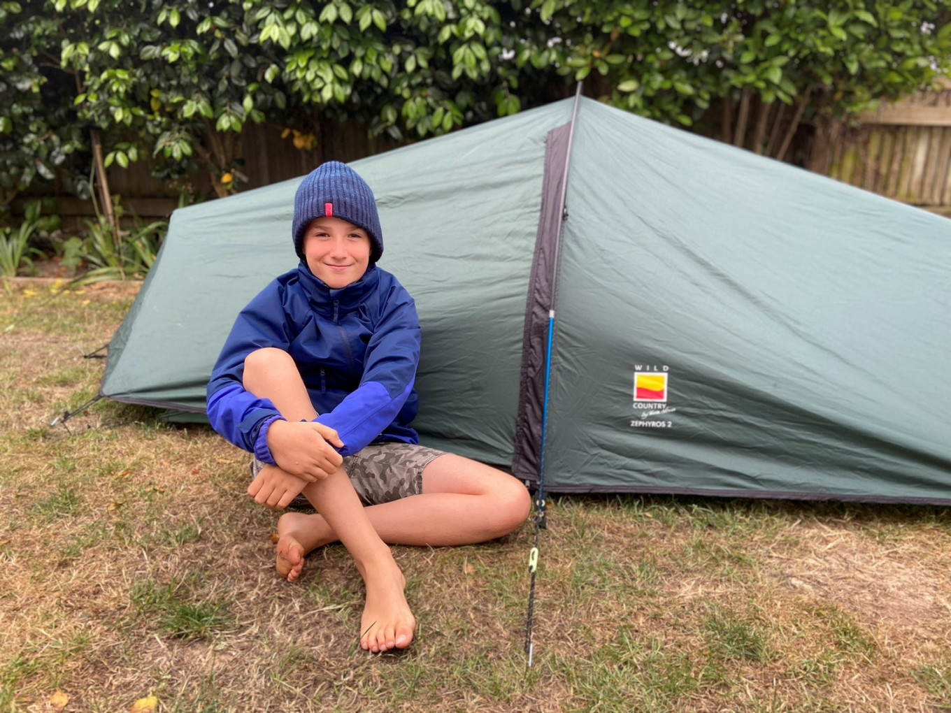 British boy slept for months in garden tent to raise money for hospice