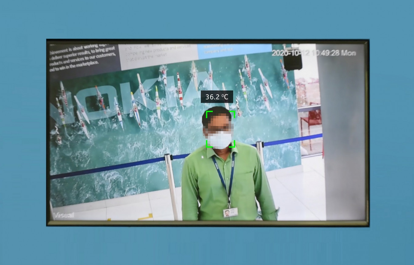 Nokia's COVID detection system automatically scans for temperature, mask