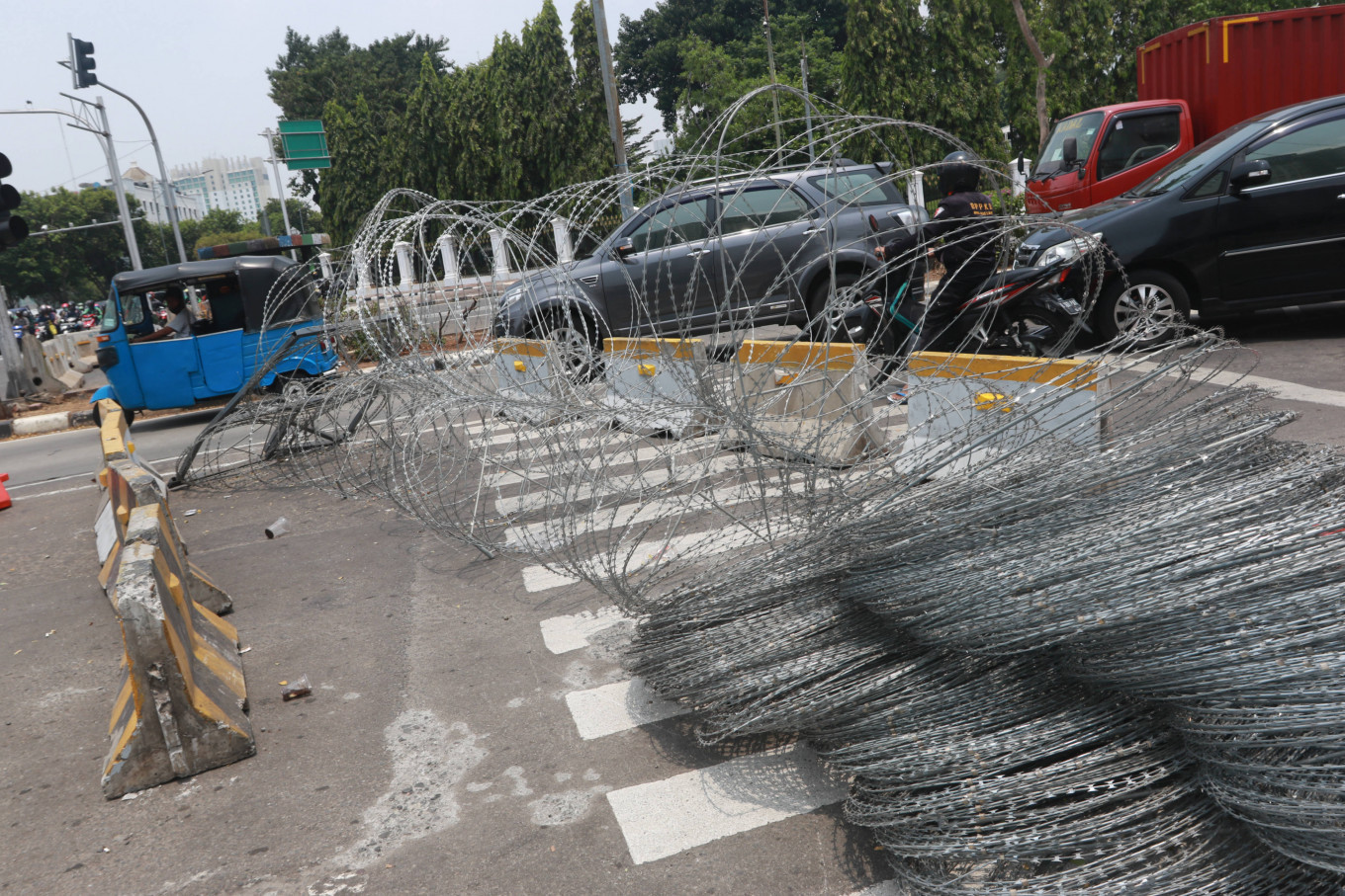 18,000 security personnel deployed amid jobs law protests in Jakarta