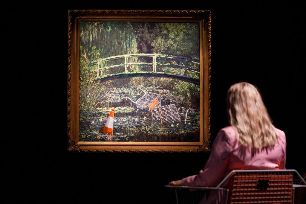 Banksy take on Monet masterpiece sells for £7.6 million