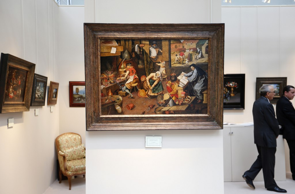 Rare Brueghel the Younger painting sale in Belgium