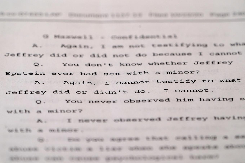 Ghislaine Maxwell denies witnessing underage sex, other misconduct in Epstein deposition