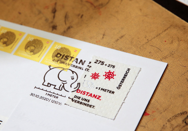 Austria prints a postage stamp to remember COVID-19 by, on toilet paper