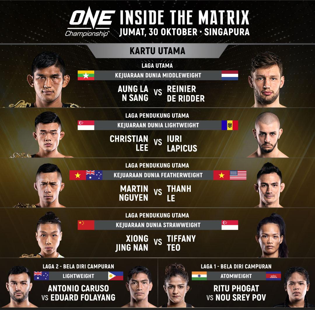 Burmese fighter Aung La Nsang to meet contender Reinier de Ridder in Singapore bout