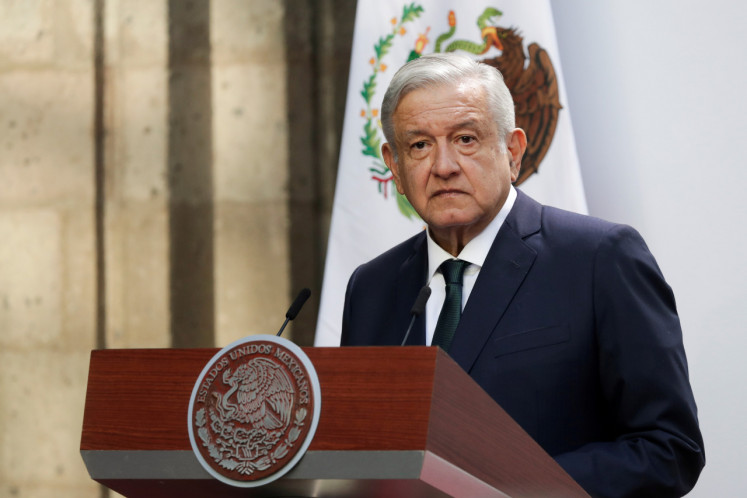 Mexican President Andres Manuel Lopez Obrador delivers his second state of the union address at National Palace in Mexico City, Mexico, Sept.1.