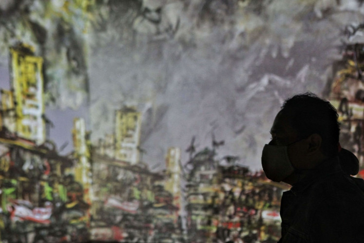 """Milestone: The interactive exhibition """"Alam, Ruang, Manusia"""" (Nature, Space, Human) is the National Gallery's first offline exhibition following its temporary closure due to the pandemic."""