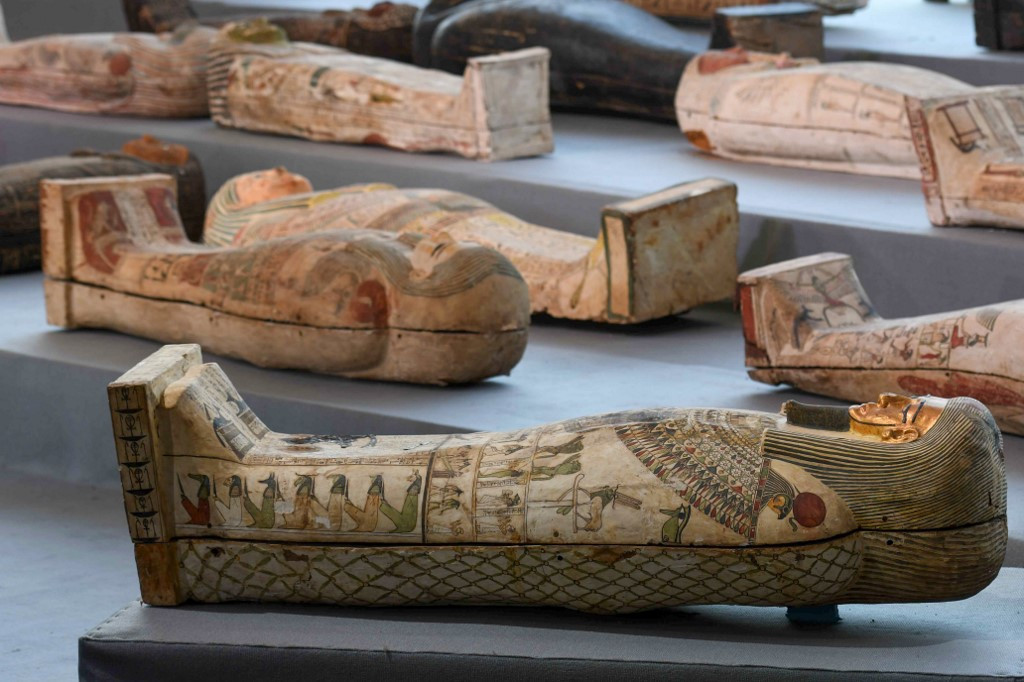 Egypt finds treasure trove of over 100 sarcophagi