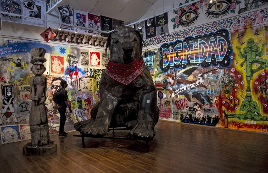 Chileans channel street rage into art at protest museum