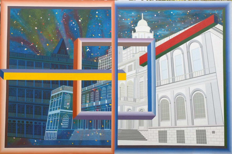 """""""Town Hall NYC"""" (2014) by I Made Wianta"""