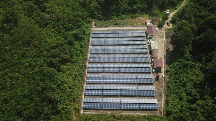Success story: Akuo Energy Indonesia's (AKEI) 414-kilowatt (KW) solar-hybrid mini grid provides 24-hour electricity for Teluk Sumbang village in Berau, East Kalimantan.