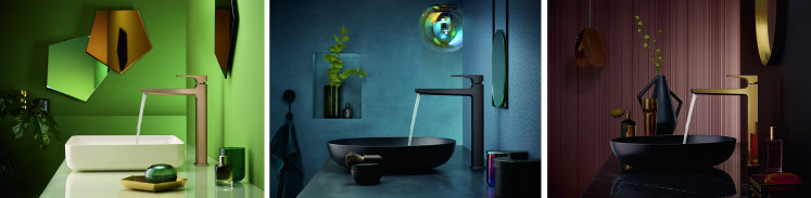 The trending colors of matte black and matte white wow fans of modern architecture. When used as a deliberate contrast, matte black and matte white can help your bathroom to stand out, especially when combined with dark wash basin finishes or used to highlight the synergy of colorful details in the space.