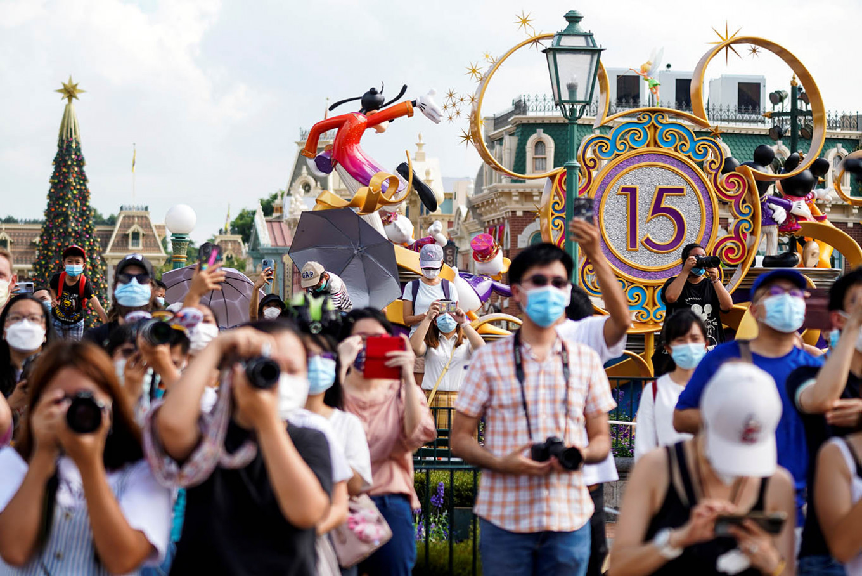 Hong Kong Disneyland reopens as anti-virus measures loosen