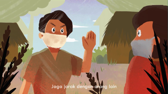 UI students create folk tale animation to educate children about COVID-19
