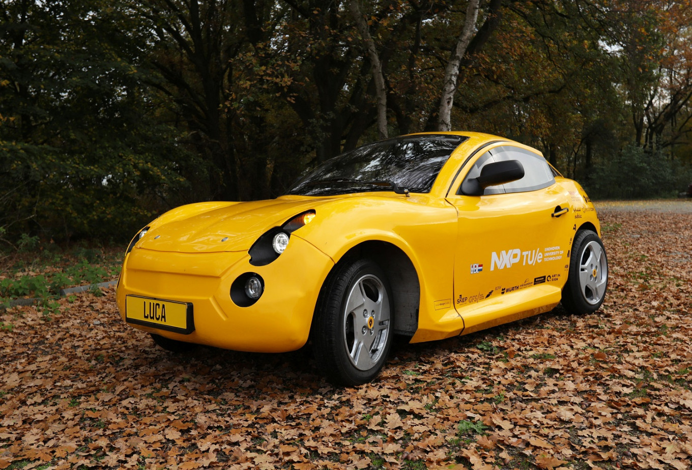 Waste not, want not: Dutch students build electric car from recycled material
