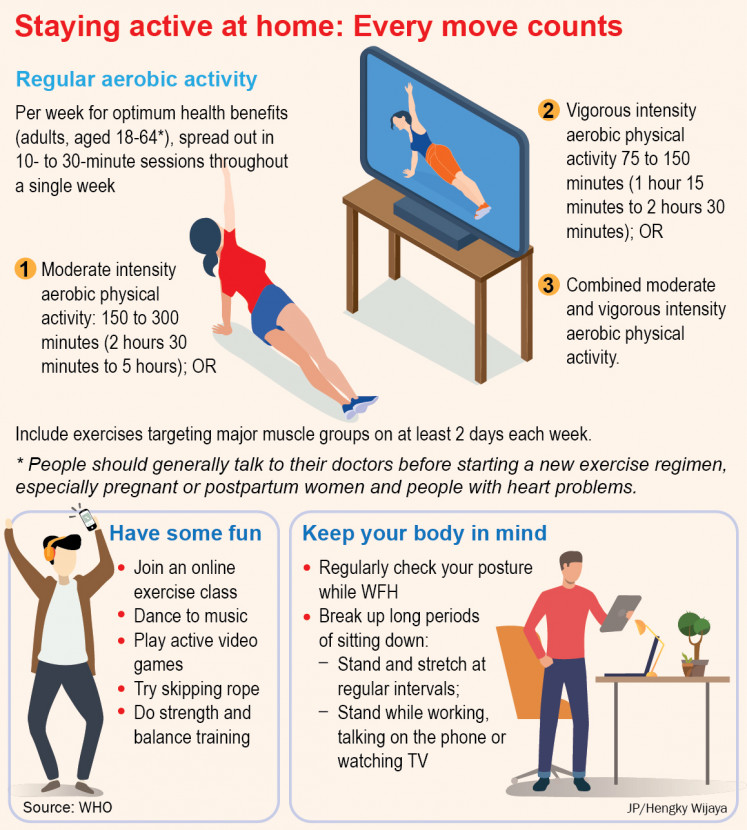 Staying active at home: Every move counts