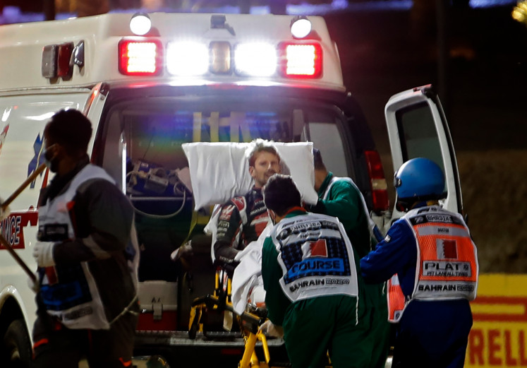 Grosjean leaves hospital after escaping fiery F1 crash