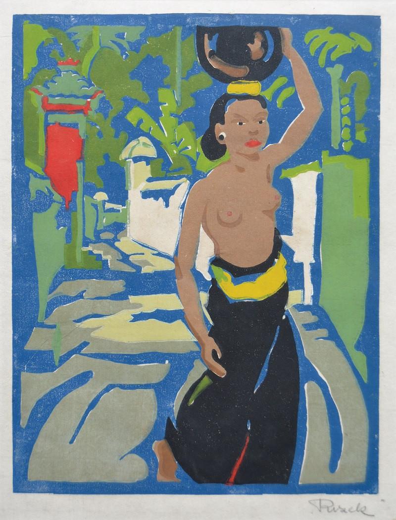 Lot 806 'Watercarrier in Bali' by Emil Rizek.