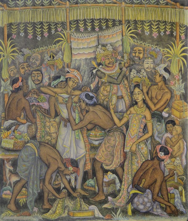 Lot 840 'Tari Parembon Tupeng' by Ida Bagus Made Poleng.
