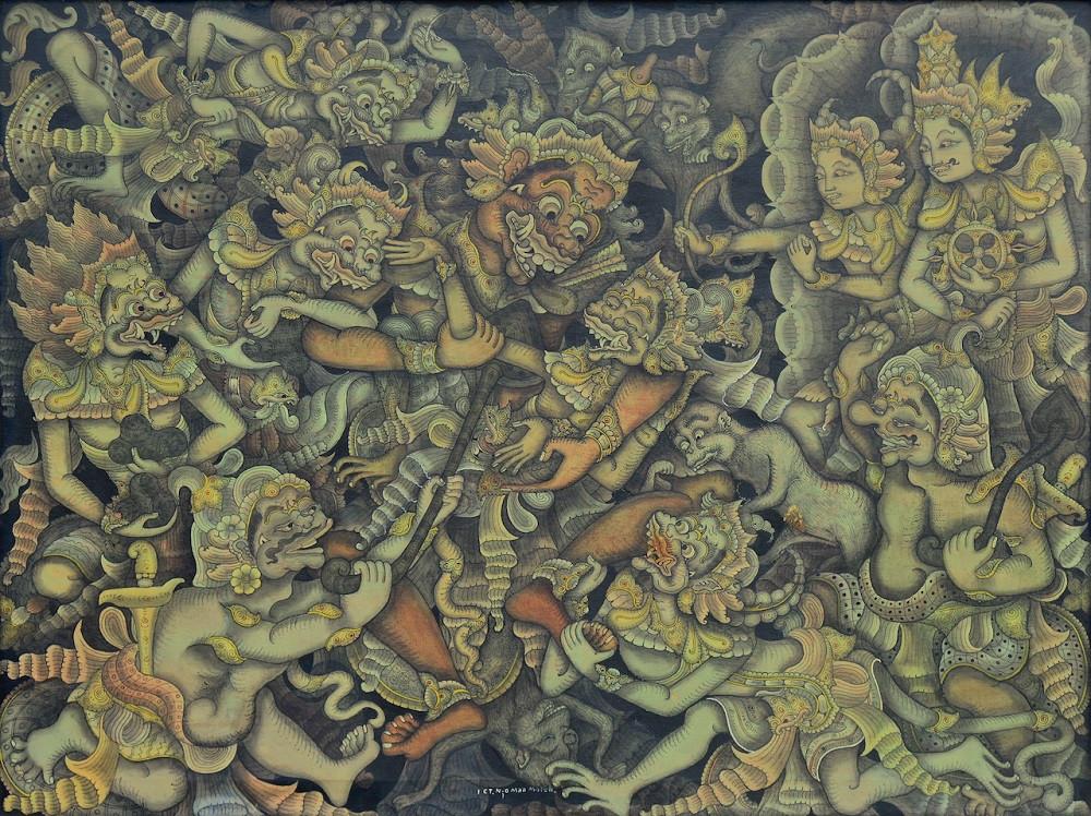 Lot 831 'The Death of Kumbakarna' by Gusti Nyoman Moleh.